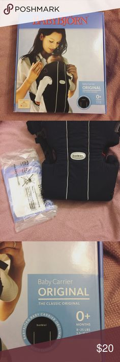 NIB Baby Björn Carrier Make me a reasonable offer! Brand new, never used Baby Björn baby carrier. Includes original box with carrying handle, unopened pack of instructions, and registration information. This carrier is compatible from birth and forward, 8-25lbs. It can forward face as well. Comes from a smoke-free home! Would make a great baby shower gift. Baby Björn Other