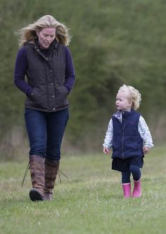 Autumn Phillips and her daughter Savannah attend the Whatley Manor International Horse Trials at Gatcombe Park, 21 Sep 2013