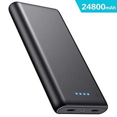 iposible Power Bank Portable Charger High Capacity External Battery Pack with 4 LED Lights Ultra Compact High-Speed Charging for Smartphone Tablet and More Phones-Communication Protector Foils Accessories Speakers Storage Data Storage Cards Cards Usb, Alcohol En Gel, Portable Charger, Asus Zenfone, Galaxy Note, Iphone 8, Samsung Galaxy, High Speed, Amazon