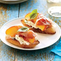 Peach and Prosciutto Canapes | CookingLight.com