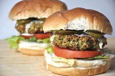 baked broccoli burgers + tahini dressing // the tolerant vegan