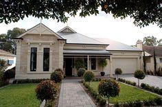 The Royston : Olde Worlde Homes Facade Design, Exterior Design, House Design, Australian Architecture, Australian Homes, Facade House, House Facades, House Exteriors, Edwardian House