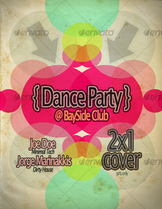 Dance Party Poster Template — Photoshop PSD #art music #music • Available here →…