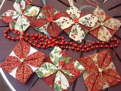 fabric Christmas ornaments