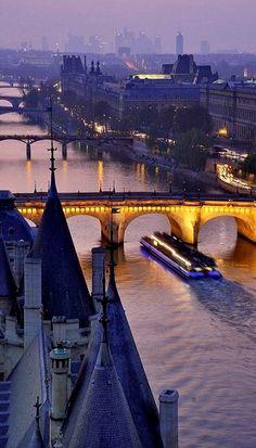 Bank of Seine, Paris, France