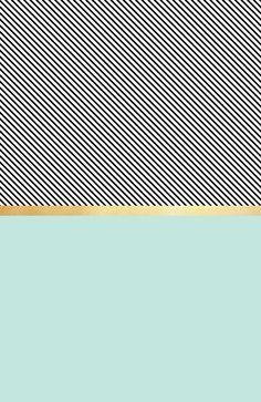 Aqua, Gold and Stripes Art Print