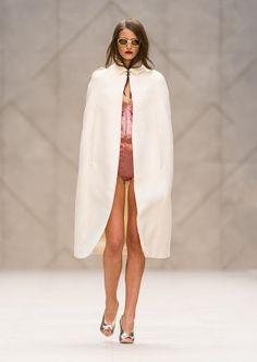 Jenny Palmer x Sparkle Style: Burberry Prorsum #SS13  Womenswear #metallic #pink