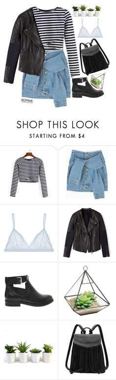 """""""#ROMWE"""" by credentovideos ❤ liked on Polyvore featuring Cosabella, Francis Leon, ASOS, women's clothing, women's fashion, women, female, woman, misses and juniors"""