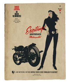 Naked Under Leather: The Girl on the Motorcycle   real life-like color prints!