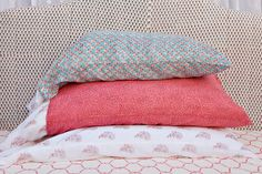 Kerry Cassill - Luxury Indian printed Bedding and Apparel — Mini Booti Pillowcase