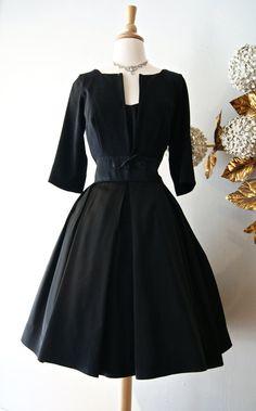 1960s Little Black Dress / Vintage 60s Jeanette by xtabayvintage, $198.00