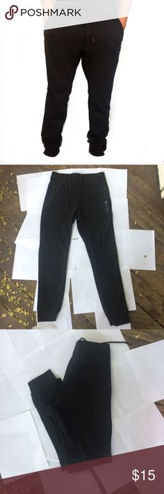Mens premium quality jogger sweatpants nwt New with tags Men's premium quality harem drawstring waistband running jogger sweatpants Slim fit 2 side zip pockets One back pocket 55% cotton 45% poly Wash cold Great fashionable quality For jogging,casual wear or just lounging  Please check out my closet for other colors available,follow me and share items as I will do the same,thanks for reading,color is black Pants Sweatpants & Joggers