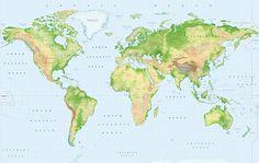 Standard Relief World Map