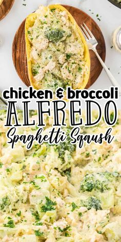This Chicken and Broccoli Alfredo Spaghetti Squash dish is a quick, easy, and healthy way to enjoy spaghetti squash. Juicy chicken, tender broccoli, and spaghetti squash mixed with a creamy rich alfredo sauce make this spaghetti squash alfredo a winner every time! Grilled Chicken Recipes, Chicken Wing Recipes, Baked Chicken, Spaghetti Squash Alfredo, Spaghetti Squash Casserole, Great Appetizers, Appetizer Recipes, Lunch Recipes, Easy Dinner Recipes