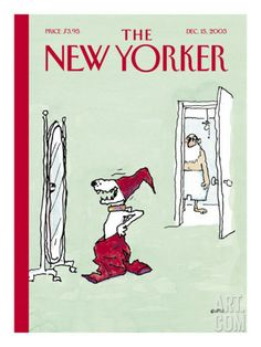 The New Yorker Cover - December 15, 2003 Poster Print by George Booth at the Condé Nast Collection
