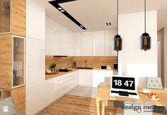 Interior Design And Construction, New Interior Design, Simple House Design, Minimalist House Design, Kitchen Room Design, Home Decor Kitchen, Modern Kitchen Interiors, Mid Century Modern Kitchen, Wood Kitchen Cabinets