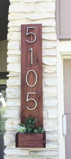 Cedar Street Number Planter.