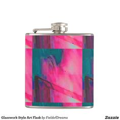Glasswork Style Art Flask