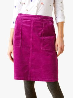 Buy White Stuff Clocktower Cord A Line Skirt, Mulberry Pink from our Women's Skirts range at John Lewis & Partners. Comfortable Outfits, A Line Skirts, Personal Style, High Waisted Skirt, Autumn Fashion, Dress Up, Project 333, White Stuff, Pink