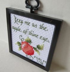 Apple of thine eye cross stitch by NeedleSewing on Etsy