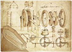 leonardo da vinci inventions Wireframe, Italian Renaissance, Renaissance Art, Da Vinci Inventions, Design Brochure, Technical Drawing, E Design, Online Art, Art History