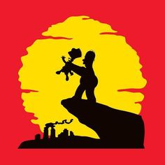 The Simpsons t-shirt by Vitaliy Klimenko. A Lion King parody t-shirt featuring Homer and Bart Simpson. It's the Circle of Life! The Simpsons, Simpsons T Shirt, Cartoon Kunst, Cartoon Art, Cartoon Design, Tableau Pop Art, Simpson Wallpaper Iphone, Iphone Wallpapers, Disney Marvel