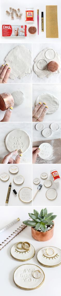 [orginial_title] – A Little Craft In Your Day DIY Jewelry Holder! You're going to love this room decor or home decor DIY p… DIY Jewelry Holder! You're going to love this room decor or home decor DIY project. Diy Air Dry Clay, Diy Clay, Clay Crafts, I Spy Diy, Diy Jewelry Holder, Jewelry Storage, Diy Accessoires, Creation Deco, Ideias Diy