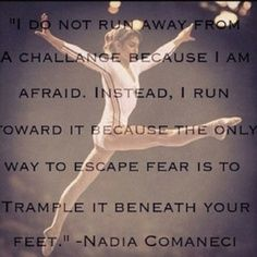 Awesome quotes from Nadia Comaneci. Gymnastics Coaching, Gymnastics Workout, Olympic Gymnastics, Gymnastics Stuff, Gymnastics Sayings, Gymnastics Funny, All About Gymnastics, Gymnastics Pictures, Olympic Games