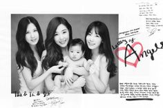 TaeTiSeo are featured in Elle Magazine for Letters of Angels 2013 #taeyeon #tiffany #seohyun #snsd