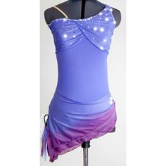 Custom Figure Skating Dress w/ Clarus Crystals by glittRSkatewear