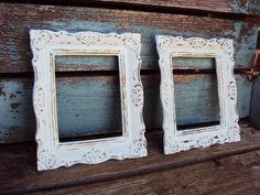 Shabby Chic Vintage Frame Set Baroque by primitivepincushion