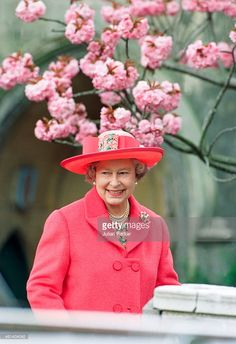 Queen Elizabeth II, attends Easter Sunday Church Service, at St Georges Chapel, Windsor Castle, on April 16, 1995, in Windsor, United Kingdom .