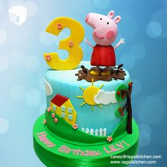 Peppa Pig Cake | Cakes by The Regali Kitchen