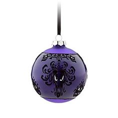 Disney The Haunted Mansion Glass Ball Ornament - Purple | Disney StoreThe Haunted Mansion Glass Ball Ornament - Purple - Gift-giving ghosts may follow you home from The Haunted Mansion when you hang these ''boo-ti-ful'' glass ball ornaments, inspired by our popular wallpaper pattern, on the family tree.