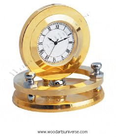 Promotional Gold Plated Desk Clock WAUBCK580  http://woodartsuniverse.com/catalog/product_info.php?products_id=312  #freeshipping #SALE  #newyearsale