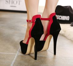 Fashionable Platforn Stiletto Heels with Ankle Straps