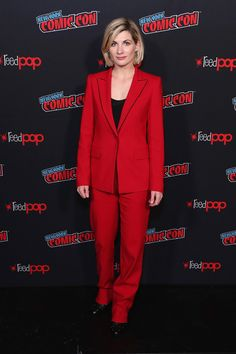 Jodie Whittaker Photos - Jodie Whittaker attends BBC America's Doctor Who Global Premiere at New York Comic Con on October 2018 in New York City. - BBC America's 'Doctor Who' Global Premiere At New York Comic Con Doctor Who, First Doctor, 13th Doctor, Paul Mcgann, Peter Davison, Dr Williams, Bbc America, Sophisticated Dress, Female Doctor