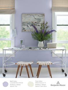 Benjamin Moore Lavender Mist 2070-60, part of our Color Trends 2014 palette.
