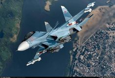 The Sukhoi Su-33 is an all-weather carrier-based twin-engine air superiority fighter designed by Sukhoi and manufactured by Komsomolsk-on-Amur Aircraft Production Association, derived from the Su-27 and initially known as the Su-27K. #aviationpilotmilitary