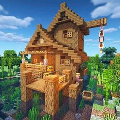 Minecraft Cottage, Cute Minecraft Houses, Minecraft Houses Survival, Minecraft House Designs, Minecraft Creations, Minecraft Crafts, Video Minecraft, Minecraft Building Guide, Minecraft Plans