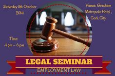 The seminars will take place on Saturday, 11th October 2014, at 4pm-6pm and on Friday 21st November 2014, at 2 pm - 4 pm in Gresham Metropole Hotel.