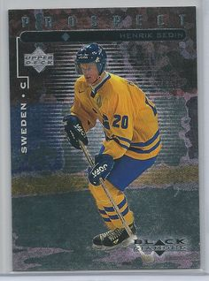 1998-99 Henrik Sedin RC Upper Deck Black Diamond Vancouver Canucks # 110 Mint!
