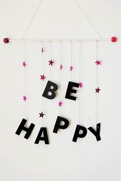 Piccolecose: Print&Do, diy+free printables. Scultura mobile Be Happy