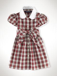 Belted Plaid Shirtdress - Infant Girls Dresses & Rompers - RalphLauren.com