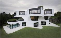 MINIMALIST HOUSE FACADE Dupli.Casa by J. Mayer H. Architects