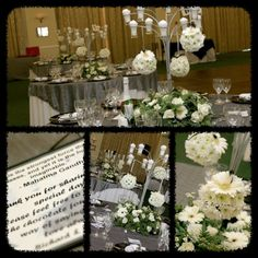 WEDDING : white, black, silver.