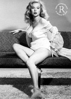 Betty Brosmer, American pin-up model.