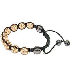 Blue Chip Unlimited - Trendy Golden 10mm Pave Crystal Bead Shamballa Bracelet Fashion Jewelry Blue Chip Unlimited. $24.95. 10mm pave crystal disco ball beads. macrame toggle lock. heavy duty adjustable nylon cord. unisex hip hop bracelet. symbolizes peace, tranquility, happieness & oneness