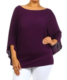 Another great find on #zulily! Plum Dolman Top - Plus by J-Mode USA Los Angeles #zulilyfinds