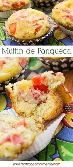 Muffin de Panqueca - Salgado para o lanche da tarde!